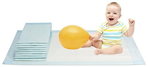 Vidima Wickelunterlage 40 x 60 cm | 100 Stück | 6 lagige saugstarke Babyunterlage aus Zellstoff | hautfreundlich & rutschhemmend | unterverpackte Einmalunterlage für Kleinkinder & Säuglinge