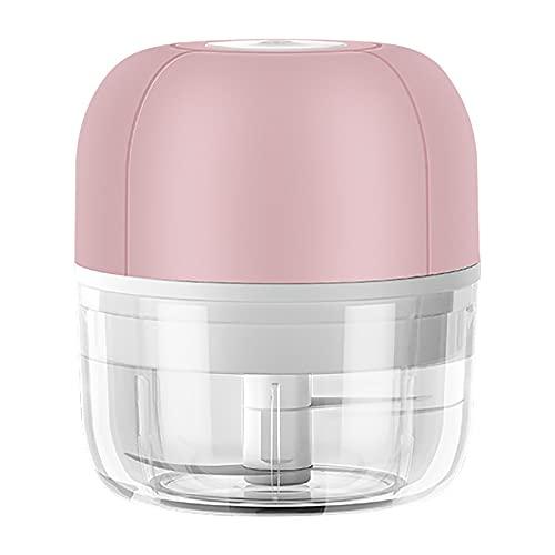 NBVFD Wireless Mini Electric Food Chopper Blenders Vegetable Fruit Garlic Household Blender USB Charing Processor Mixer(100ml,Pink)