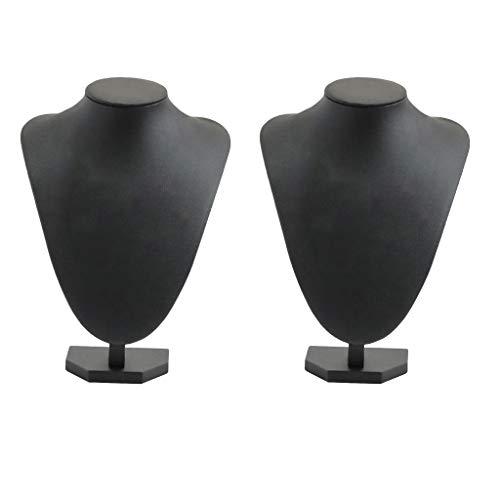 harayaa Soporte de Exhibición del Tenedor de La Joyería del Soporte de La Joyería del Busto de La Joyería de Los Collares de 2 Partes