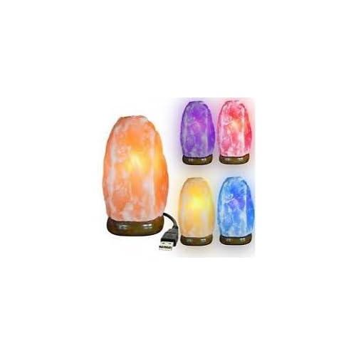LAMPADA DA SALE HIMALAYAN STACK DI ALIMENTAZIONE USB CON LUCE CAMBIAMENTO DEL COLORE (USB Natural Shape)