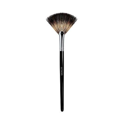 T4B LUSSONI PRO 600 Fan Brush Brocha Abanico Para Maquillaje Profesional, Con Cerdas Naturales De Mapache, Perfecta Para Aplicar Rubores o Iluminadores