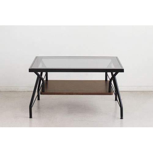 東馬 ローテーブル・ちゃぶ台 ブラック 幅70×奥行き70×高さ38cm メリオ