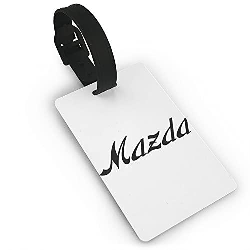Mazda etiqueta de equipaje de cuero personalizado maleta Tag Set equipaje etiquetas etiquetas de viaje accesorios
