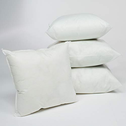 Willows Direct Pieces of 4 Hollow - fibre Filled Cushion Pad Insert/Filler (14'x20'Oblong)