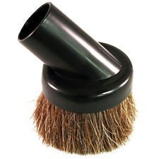 """SCStyle Universal Soft Horsehair Bristle Vacuum Cleaner Dust Brush. Fits All Vacuum Brands Accepting 1 1/4"""" Inner Diameter Attachments Such As Hoover, Bissell, Eureka, Royal, Dirt Devil."""