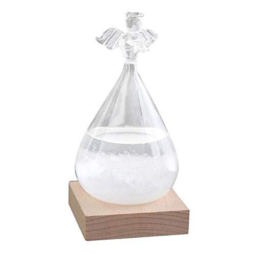 Storm Glass, Tropfenförmiges Sturmglas, Wetterstation Cloud Storm Crystal Wettervorhersage Flasche Kreative Stilvolle Dekorative Desktop Weather Predictor Wassertropfen Für Heim Und Büro Sturmglas