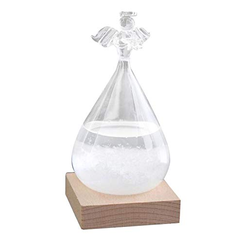 Weather Forecast Bottle Storms Predictor,Weather Forecaster Storm Glass Bottle Barometer Weather Station Home and Office Decor Best Gift for Valentines Day Birthday New Year