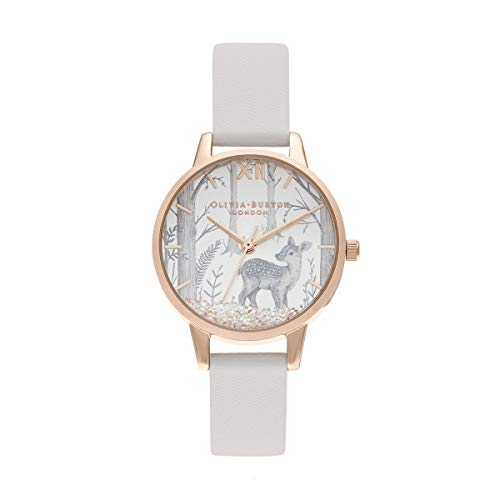 Olivia Burton Damen Analog Quarz Uhr mit veganes Leder Armband OB16SG11
