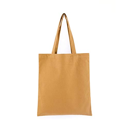 Kcnsieou Colorido Funcional Durable Lona en Blanco Grocery Plain Tote Bags Bolsa de Hombro Reutilizable Bolsa de Compras