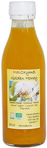 Bio Oxymel Golden Honey Honig Apfelessig Ingwer Curcuma Nahrungsergänzungsmittel