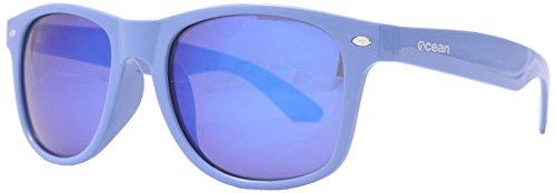 Ocean Sunglasses - Beach wayfarer - lunettes de soleil polarisées - Monture : Bleu Laqué - Verres : Revo Bleu (18202.11 )