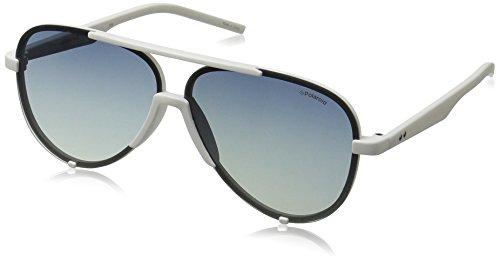 Polaroid PLD 6017/S Z7 VK6 60 Gafas de sol, Blanco (White/Blue Sf Polar), Unisex Adulto