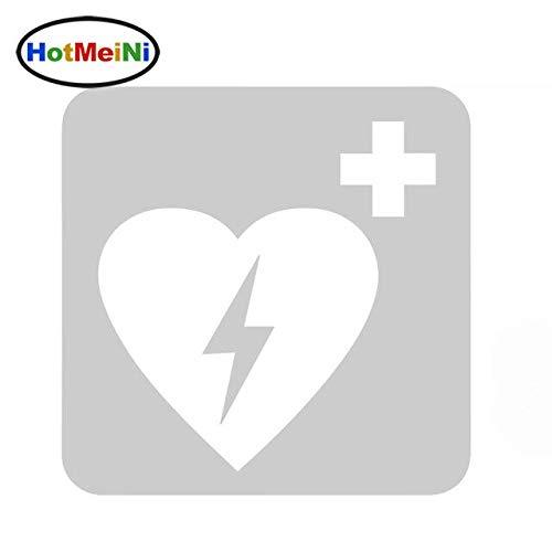 RJGOPL Autoaufkleber Defibrillator Medizinische Ausrüstung Erste Hilfe Auto Styling Auto Aufkleber Vinyl Aufkleber LKW Tür Stoßstange Kajak 15 * 15cmGrau