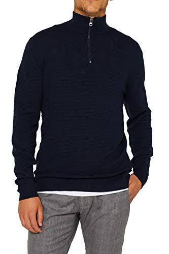 ESPRIT Herren 999EE2I801 Pullover, 400/NAVY, S