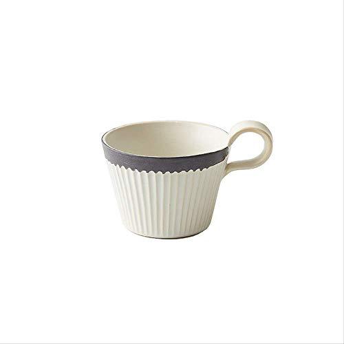 ZXS Tasse De Café en Céramique Brute Ensemble Fait À La Main Vintage Tasse À Café en Céramique Petit Déjeuner Tasse Cappuccino Tasse 320 ML Khacabi sans Cuillère