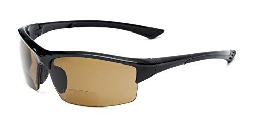 Readers.com Reading Sunglasses: The Rush Polarized Bifocal Reading Sunglasses Plastic Sport & Wrap-Around Style