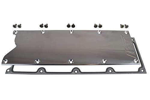 ICT Billet LS Gen 3 Valley Pan Cover Plate with Gasket Billet Aluminum Low Profile Custom Knock Sensor LSX LS1 LM7 LR4 LQ4 LS6 L59 LQ9 LM4 L33 551629G