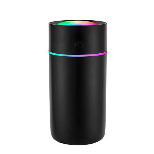 Luftbefeuchter,Mini Aromazerstäuber,Air Diffuser,mit zwei Sprühmodi, umidity aroma diffuser,mit 320 ml Wasser,USB Verbindung,2 Nebelmodi,Super Quiet,automatische Abschaltung.(Black-Long)