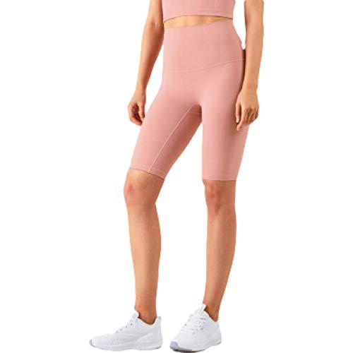 Corumly Pantalones Cortos para Mujer, Sencillos, Informales, de Cintura Alta, cómodos Pantalones de Yoga, Ajustados, Deportivos, cómodos, Pantalones Cortos de Cinco Puntos M