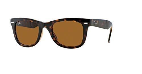 Ray-Ban RB4105 FOLDING WAYFARER 710 54M Light Havana/Brown Crystal Sunglasses For Men For Women