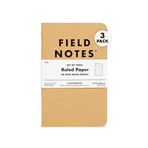 Field Notes: Original Kraft 3-Pack - Ruled Paper - 48 Pages - 3.5' x 5.5'