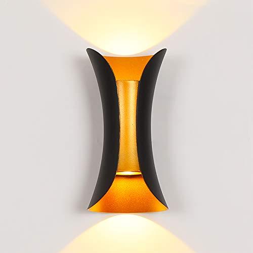 Lámpara de pared LED moderna para terraza, exterior de pared de 10 W impermeable Apliques de aluminio apto para dormitorio, porche,...