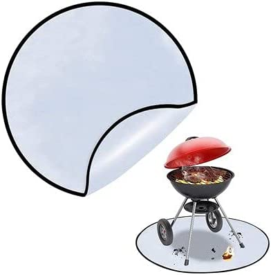 Discount mail order IFEEHE Fire Max 89% OFF Pit Mat Round Under Grill Thick Fireproof
