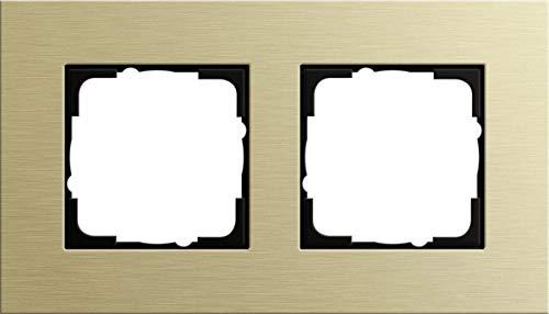 Gira 0212217 Abdeckrahmen Esprit 2-Fach, Aluminium/hellgold