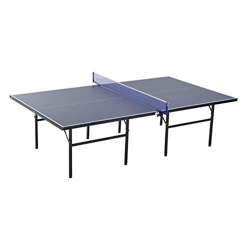 benzoni Tavolo da Ping Pong Indoor Pieghevole in Legno MDF e Acciaio 152.5x274x76 cm