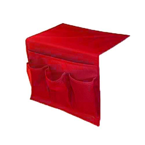 Organiseur Autobloquant - Sac de Rangement de Chevet Organisateur Suspendu Chaise Accoudoir Organisateur pour dortoir Voiture Canapé lit côté Rails pour Accoudoir de Fauteuil/Sofa