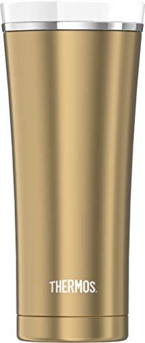 THERMOS 4004.283.047 Coffee-to-Go Thermobecher Premium, Edelstahl Gold 0,47 l, 5 Stunden heiß, 9 Stunden kalt, BPA-Free
