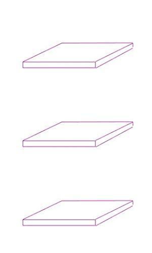 C-Möbel 3er Set Glaseinlegeboden Glasboden für Hängevitrine für Vitrinen-Maße: Breit: 60 cm/Tief: 25 cm