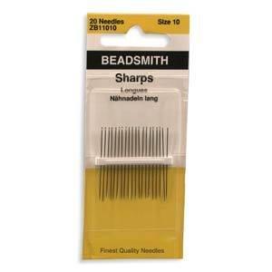 Sharp Beading Needles -Size 10, 20 Pack