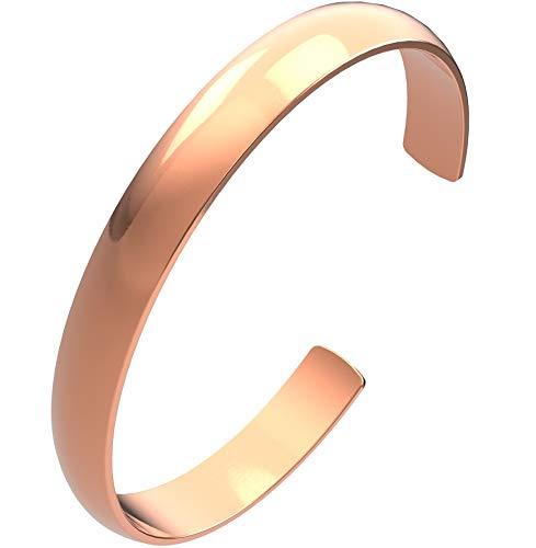 Kupferarmband Natur Armspange massiv Kupfer ohne Magnet Armreif