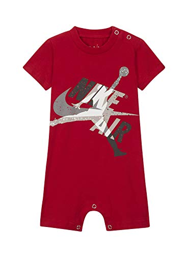 Nike Baby Boys Dri-FIT Logo Raglan Romper (Gym Red(557112-R78), 3 Months)