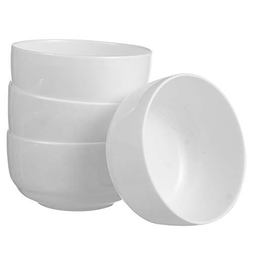 HEMOTON Cuenco de Sopa de Cerámica de 4 Piezas Cuencos de Porcelana para Cereales Tazón de Desayuno Cuencos de Arroz para Preparar Comidas para Sopa de Cocina