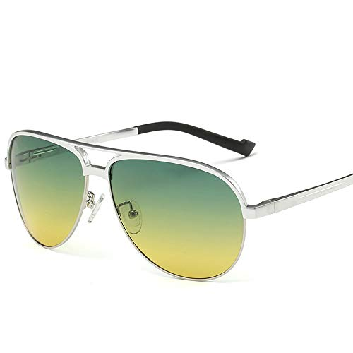 WOXING Vision Nocturna Polarizadas Conducir Ojo De Sol,Conducir Hombre Mujer Gafas De Sol Deportivas,Protección UV Antideslumbrantes Ciclismo Pesca-B 14.6x4.8cm(6x2inch)