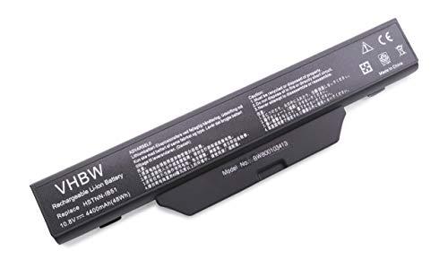 vhbw Batterie Compatible avec HP/CompaQ 550, 610, 655HP, 6700, 6720, 6720s, 6720t, 6730, 6730s, 6735 Laptop (4400mAh, 10.8V, Li-ION, Noir)