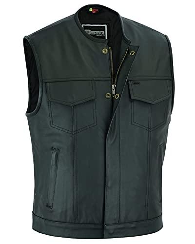 Gilet Cuir COL Mao SOA Taille XL