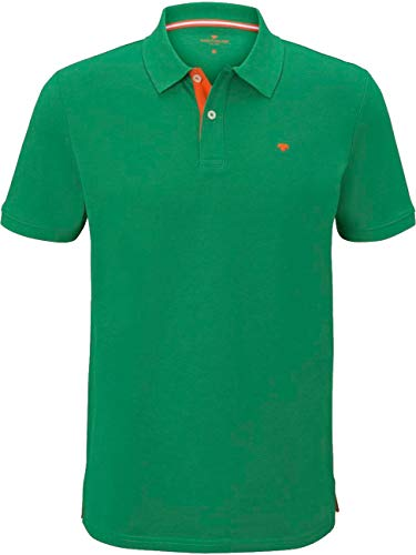 TOM TAILOR Herren Basic mit Kontrast Polohemd, 22397-jolly Green, XXXL
