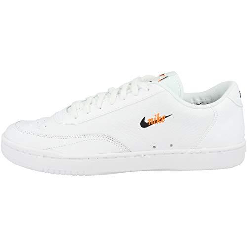 Nike Scarpe da Tennis da Uomo in Stile Vintage, Bianco (Bianco, Bianco, Arancione, Nero.), 39 EU