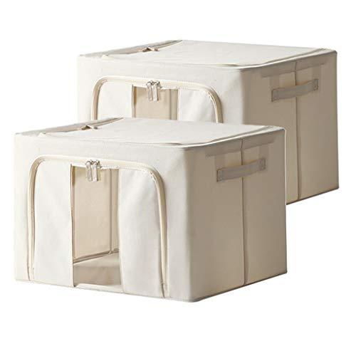 Metallrahmen Aufbewahrungsboxen - Aufbewahrungstasche Baumwolle - Faltbare Unterbettkommode - Metallrahmen 2 Stück Pack of 2