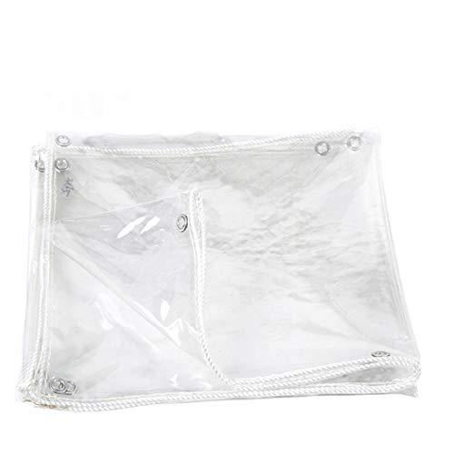 X1NGFU Lona Impermeable Transparente con Ojete,Lona de Plástico Mpermeable de PVC,Lona Gruesa Transparente,0,5 Mm de Espesor,Rain Flower Plant Cubiertas de Hojas,Personalizable (3x4m/9.8x13ft)