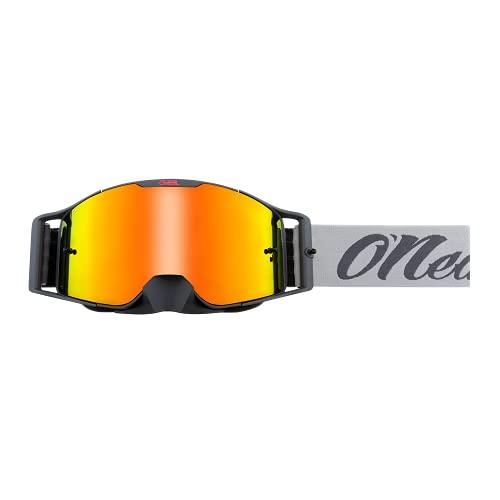O'NEAL | Fahrrad- & Motocross-Brille | MX MTB DH FR Downhill Freeride | Verstellbares Band, optimaler Komfort, perfekte Belüftung | B-30 Goggle | Unisex | Grau Schwarz verspiegelt | One Size