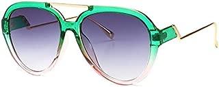 Sunglasses Fashion Accessories Retro Sunglasses UV Color Progressive Lens Design (Color : Green)