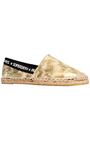 Superdry Damen Erin Elastic Espadrilles, Gold (Distressed Gold Yv5), 37 EU