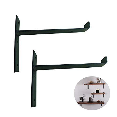 Yuany plankhouders, 2 hoog presterende plankhouders, industriële floating, 150 mm, wandrek, gietijzer, voor doe-het-zelf of aangepaste wandrekken (met schroeven)