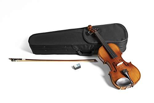GEWApure Violingarnitur HW Hartholz 1/2 spielfertig mit Kinnhalter, Feinstimmsaitenhalter, Bogen, Kolophonium, Etui mit Tragegurt