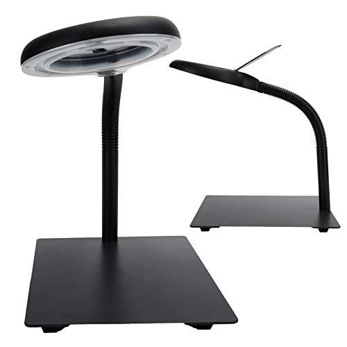 Lámpara de aumento LED, Lámpara de escritorio con lupa, Luz de lupa flexible 40LED para reparación de relojes, Arving de apreciación de joyas,(European standard 110-220V)