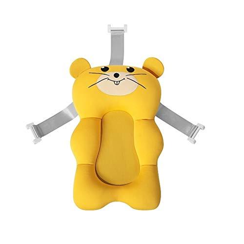 GuanXian Asiento de baño para bebé Cojín de Aire para bebé para bebé para bebé Asiento de baño de bebé Recién Nacido Baño Bañera Soporte para bebés Accesorios (Color : Yellow Rat)